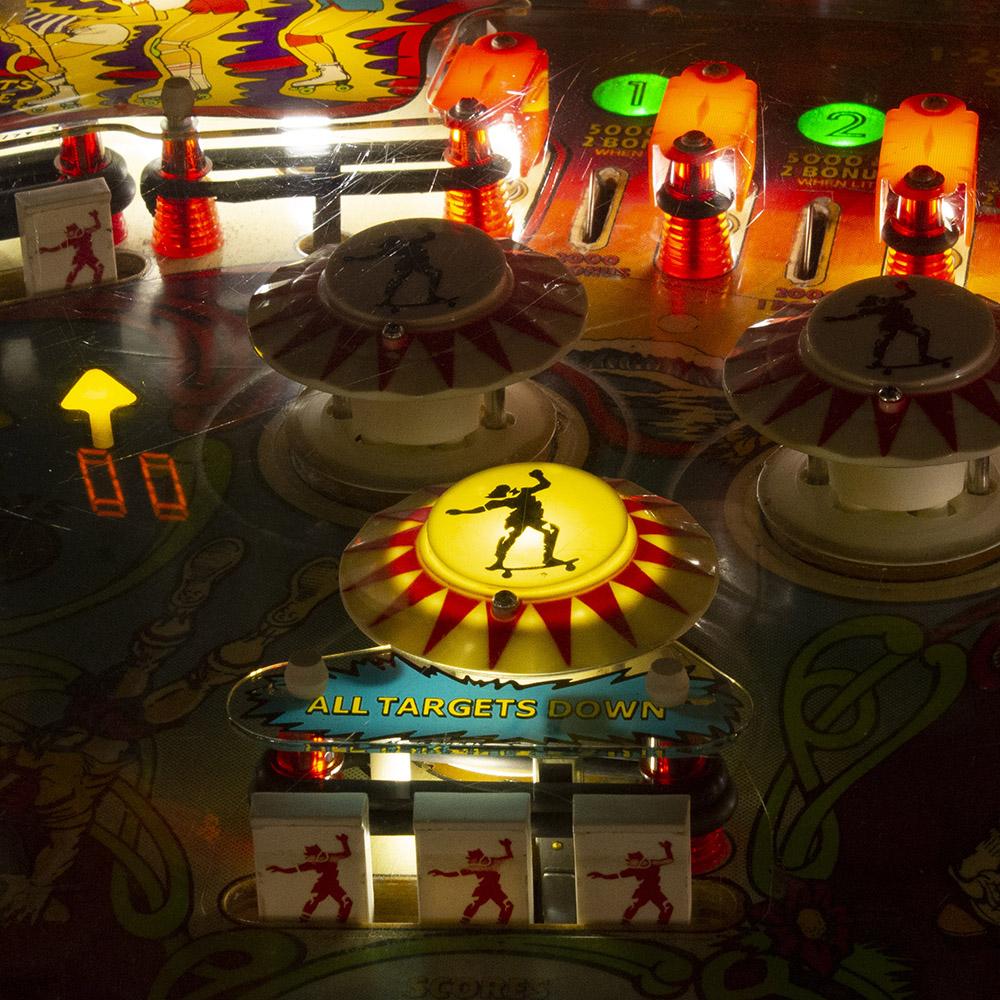 Wedgehead PDX - Skateball pinball machine
