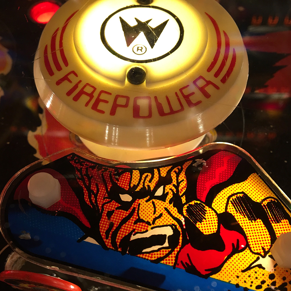 Firepower pinball machine