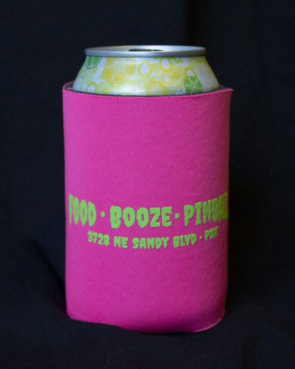 Wedgehead Pinball Arcade - beer koozie back