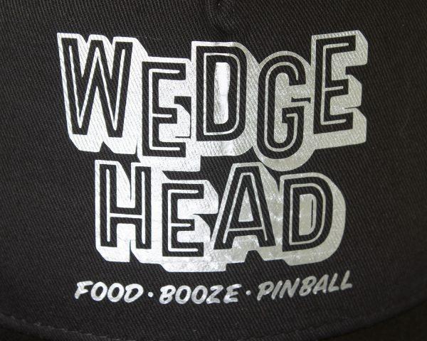 Wedgehead baseball cap in black and silver - detail