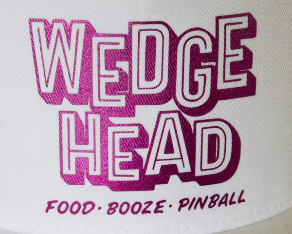 Wedgehead baseball cap in white and pink - detail