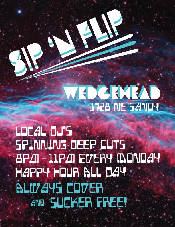 Wedgehead Monday night happy hour Sip n Flip