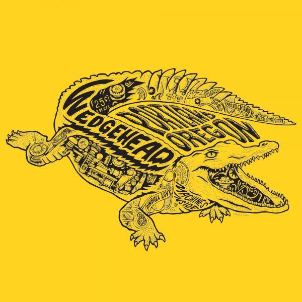 Wedgehead teeshirt V2 - yellow shirt