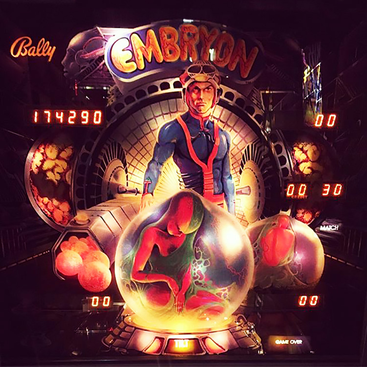 Embryon pinball machine