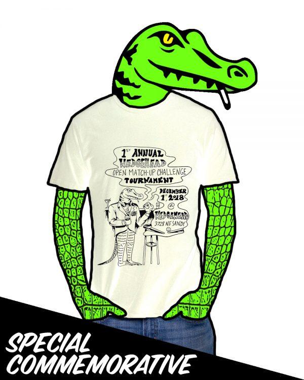 Wedgehead Pinball tournament shirt