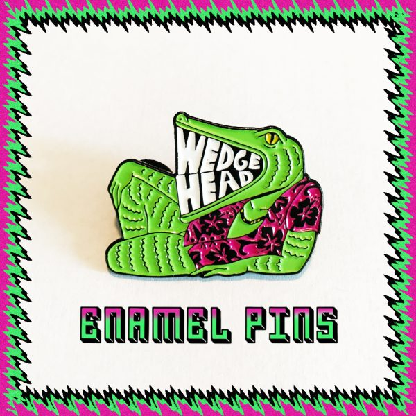 Wedgehead enamel pin