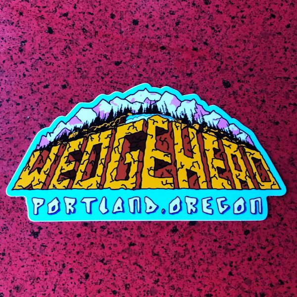 Wedgehead White Water sticker
