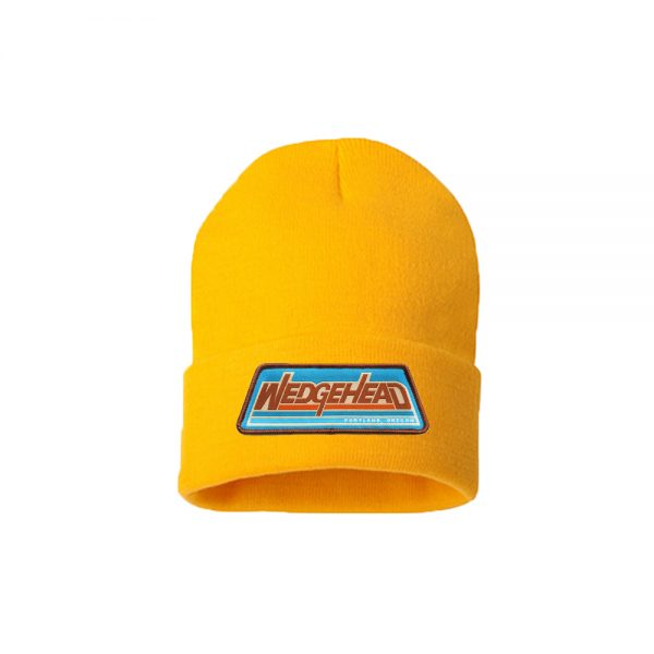 New Wedgehead beanie in yellow