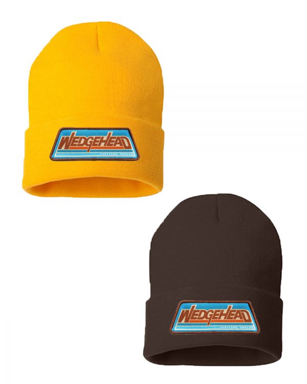 New Wedgehead beanies - yellow or brown