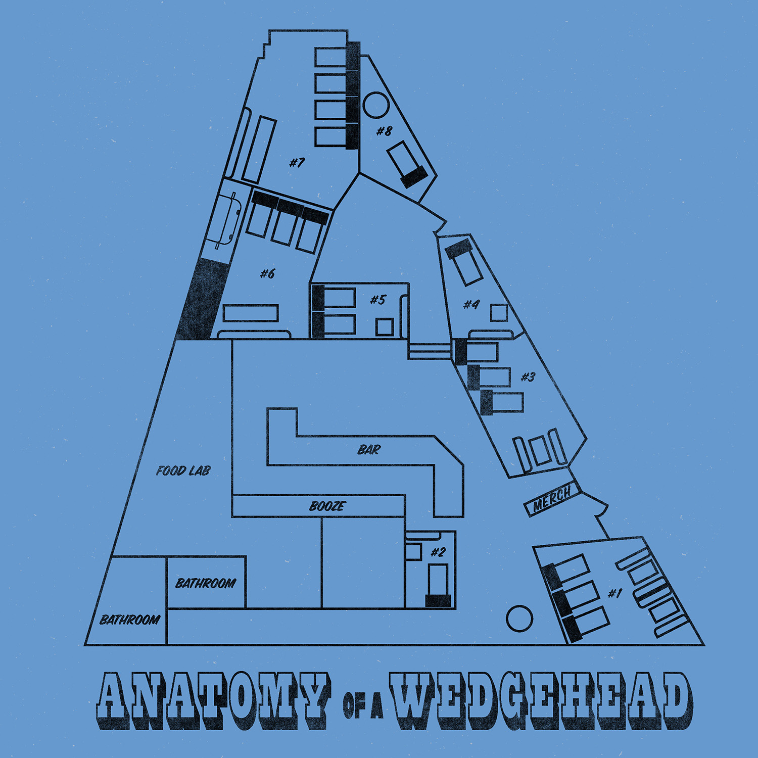 Wedgehead floor plan and pods map