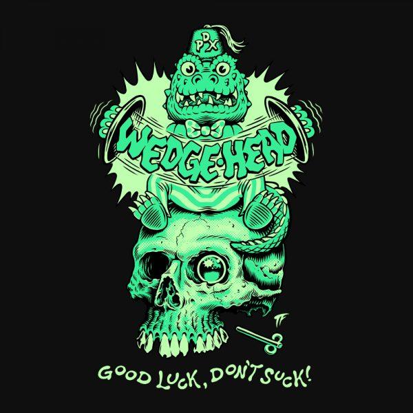 Wedgehead artist series X hoodie back