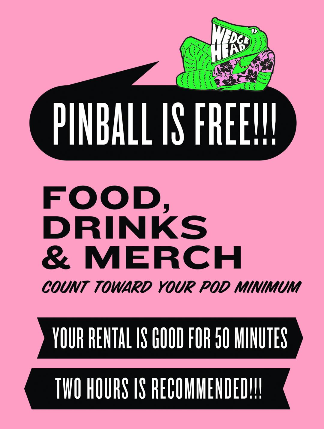 free pinball at Wedgehead